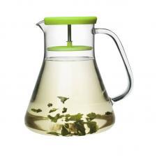 Чайник стеклянный Qdo Dancing Leaf зелёный