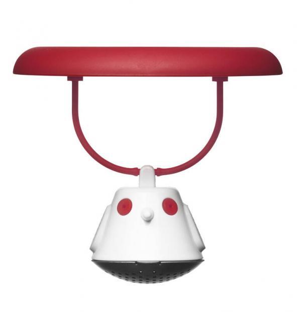 Емкость для заваривания чая с крышкой Qdo Birdie Swing красная 567608