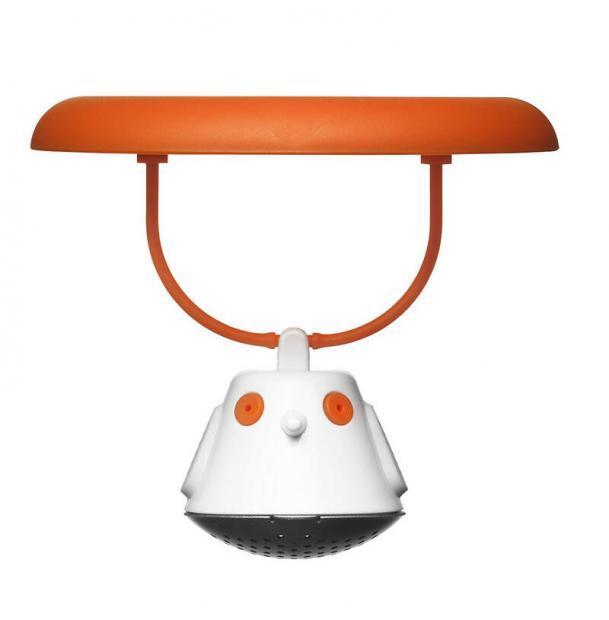 Емкость для заваривания чая с крышкой Qdo Birdie Swing оранжевая 567395