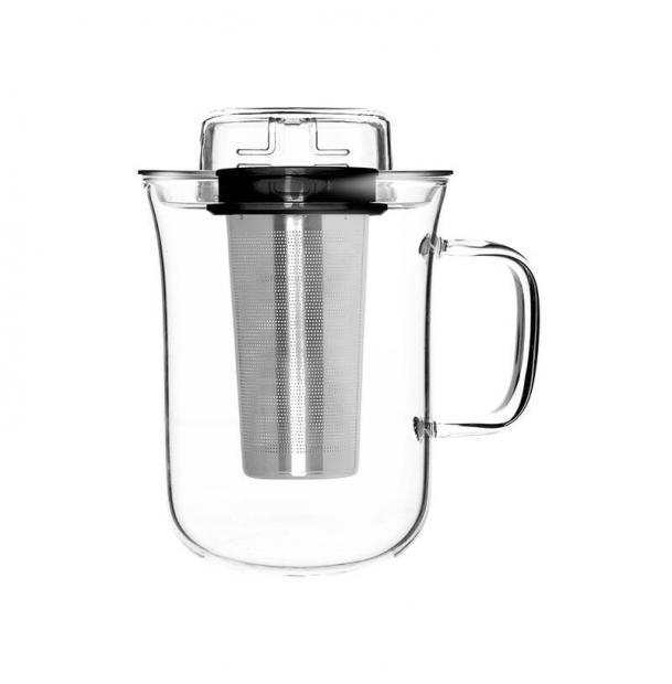 Кружка с заварочным фильтром Qdo Me Cup 400 мл черная 5676509BK