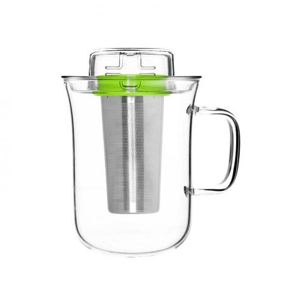 Кружка с заварочным фильтром Qdo Me Cup 400 мл зеленая 5676509GR
