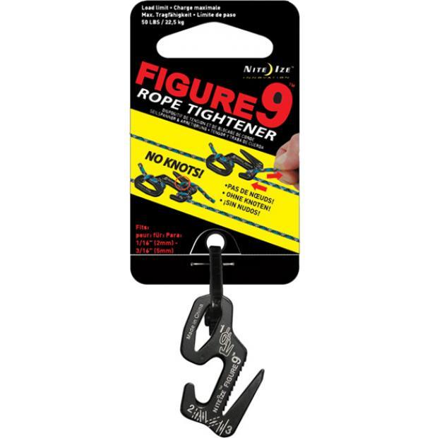 Крепление для веревки Nite Ize Figure 9 Small Black F9S-02-01