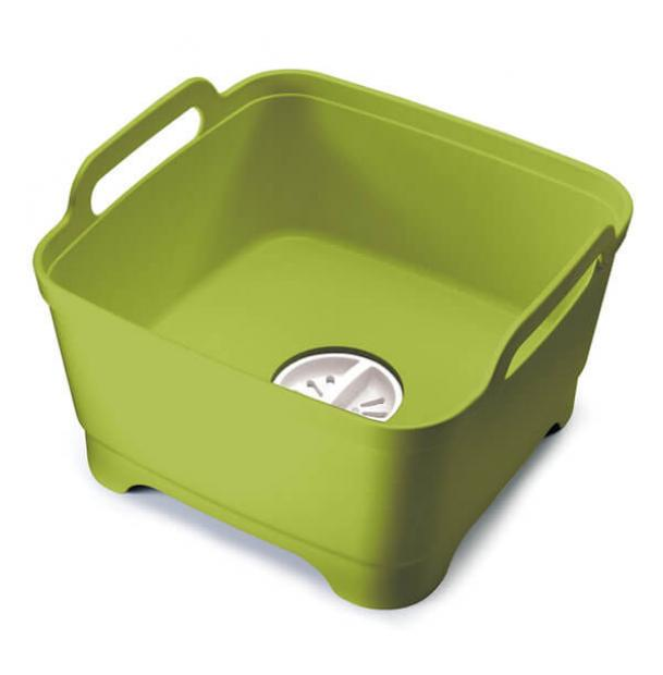 Контейнер для мытья посуды Joseph Joseph Wash&Drain Green