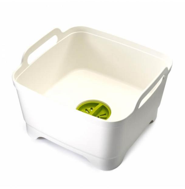Контейнер для мытья посуды Joseph Joseph Wash&Drain White