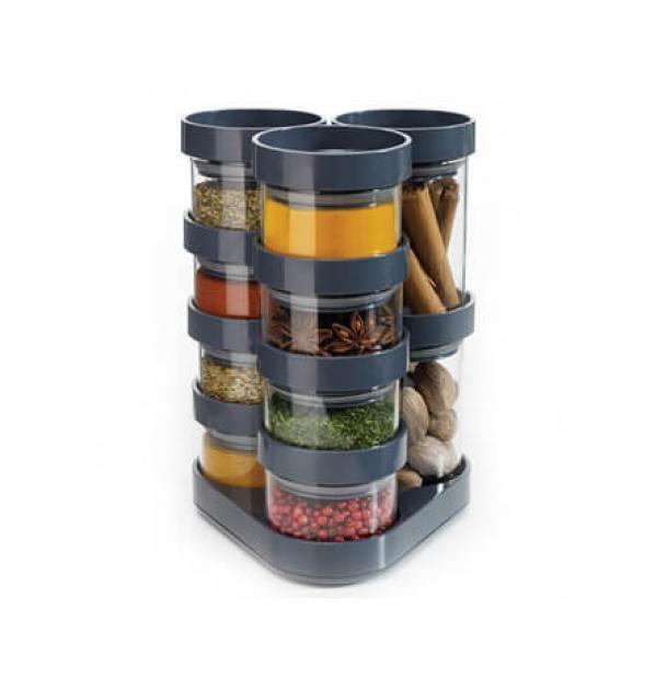 Набор контейнеров Joseph Joseph SpiceStore Carousel Grey