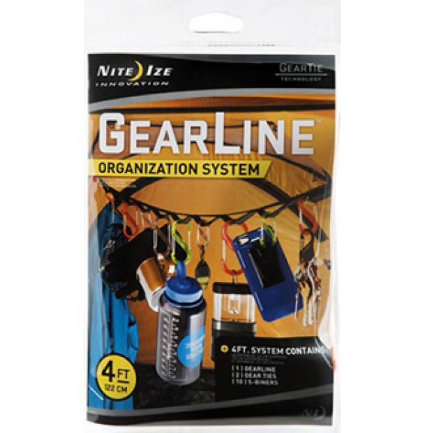 Набор карабинов Nite Ize Gearline Organization System 4 GLN4-M1-R8