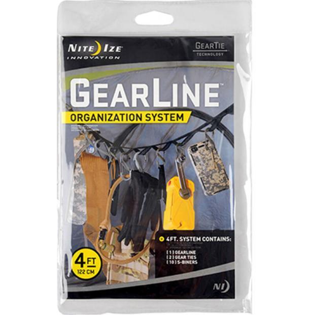 Набор карабинов Nite Ize Gearline Organization System 4 Tactical