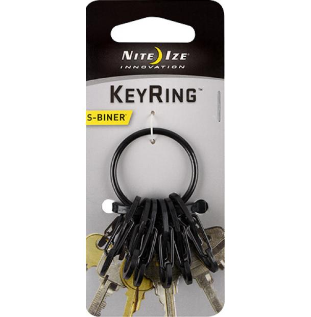 Набор карабинов Nite Ize S-Biner KeyRing Steel Black