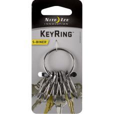Набор карабинов Nite Ize S-Biner KeyRing Steel Stainless