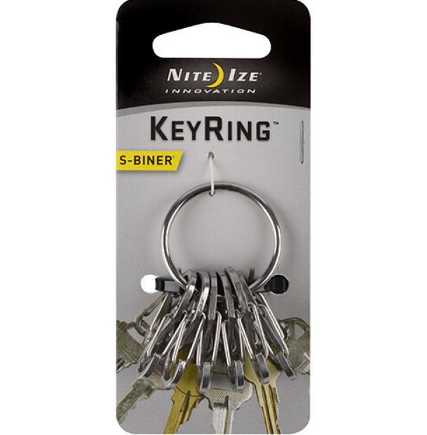 Набор карабинов Nite Ize S-Biner KeyRing Steel Stainless KRGS-11-R3
