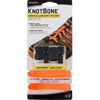 Шнурки с фиксатором Nite Ize KnotBone Stretch LaceLock System Bright Orange