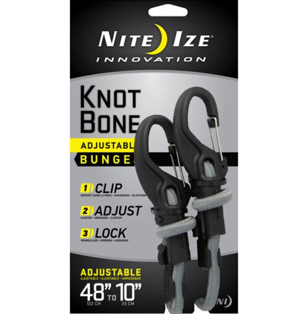 Крепление с карабином и веревкой Nite Ize Knotbone Adjustable Bungee #9