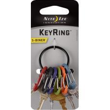 Набор карабинов Nite Ize S-Biner KeyRing Black