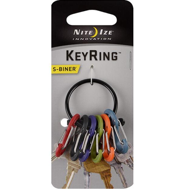 Набор карабинов Nite Ize S-Biner KeyRing Black KRG-03-01