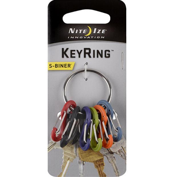 Набор карабинов Nite Ize S-Biner KeyRing Stainless