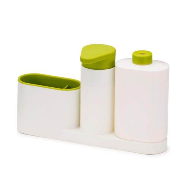 Органайзер для раковины с дозатором Joseph Joseph SinkBase Plus White Green 85082