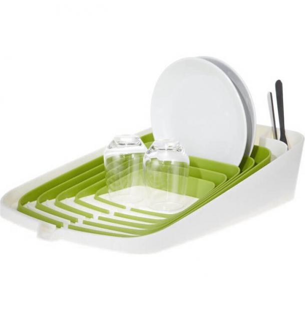 Сушилка для посуды со сливом Joseph Joseph Arena Green