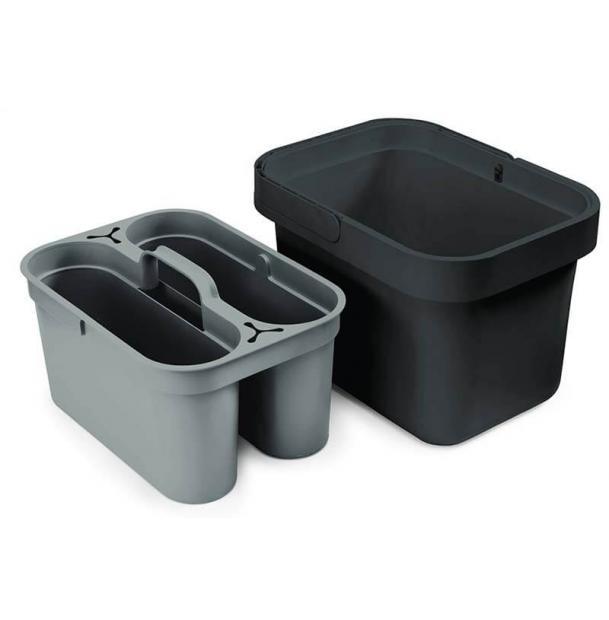 Ведро со съемным контейнером Joseph Joseph Clean&Store Grey