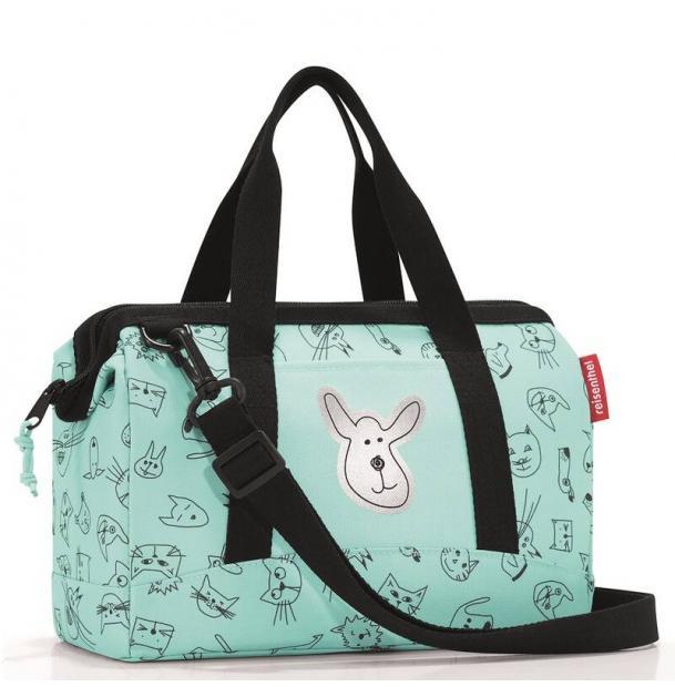 Сумка детская Reisenthel Allrounder XS cats and dogs mint