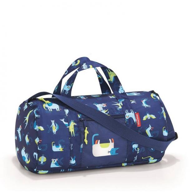 Сумка складная детская Reisenthel Dufflebag ABC friends blue