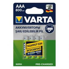 Аккумулятор VARTA R2U Ready To Use Ni-MH AAA 800 mAh 4 шт