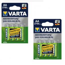 Аккумулятор бытовой Varta R6 AA BL8 NI-MH 2700mAh (4/40/400) 05706-n