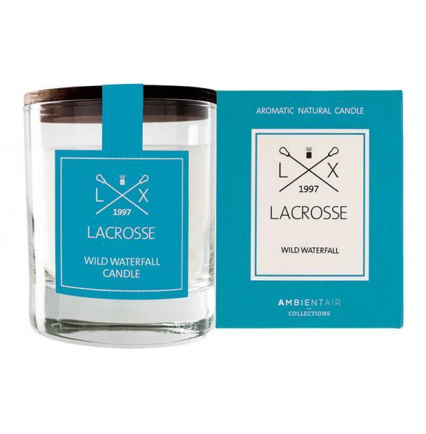 Ароматическая свеча в стекле Ambientair Дикий водопад Lacrosse круглая