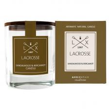 Ароматическая свеча в стекле Ambientair Сандал и бергамот Lacrosse круглая