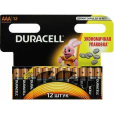 Батарейка Duracell Basic LR03 AAA BL12 Alkaline 1.5V BE 109254