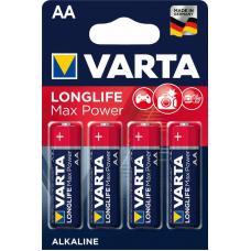 Батарейка щелочная VARTA LONGLIFE MAX POWER (Max Tech Alkaline) AA 4 шт