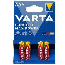 Батарейка щелочная VARTA LONGLIFE MAX POWER (Max Tech) AAA 4 шт
