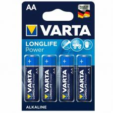 Батарейка щелочная VARTA Longlife Power Alkaline AA 4 шт