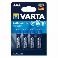Батарейка щелочная VARTA Longlife Power Alkaline AAA 4 шт