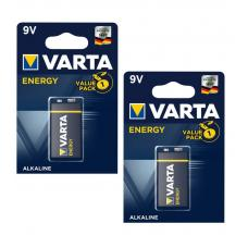 Батарейка Varta ENERGY Крона 6LR61 BL2 Alkaline 9V 04122-n