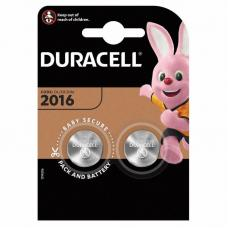 Батарейки Duracell CR2016 BL2 Lithium 3V CN