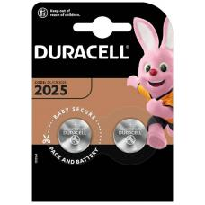 Батарейки Duracell CR2025 BL2 Lithium 3V C
