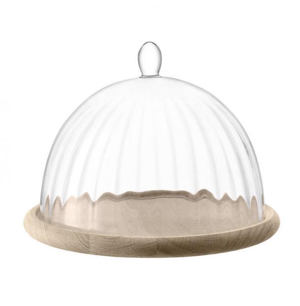Блюдо со стеклянным куполом LSA International Aurelia d25 см