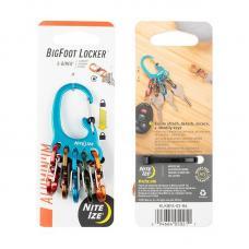 Брелок для ключей Nite Ize BigFoot Locker KeyRack Aluminum, голубой KLKBFA-03-R6