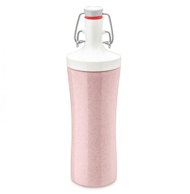 Бутылка для воды Koziol Plopp To Go Organic 425 мл розовая