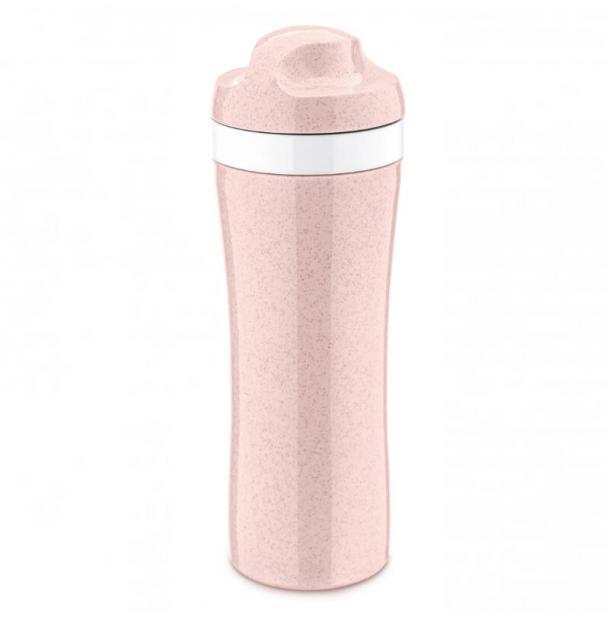 Бутылка Koziol OASE Organic 425 мл розовая