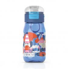 Бутылочка детская Zoku с крышкой 475 мл синяя