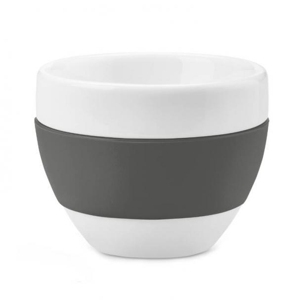 Чашка для капучино Koziol Aroma 100 мл тёмно-серая
