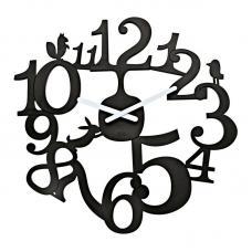 Часы настенные Koziol Pip чёрные