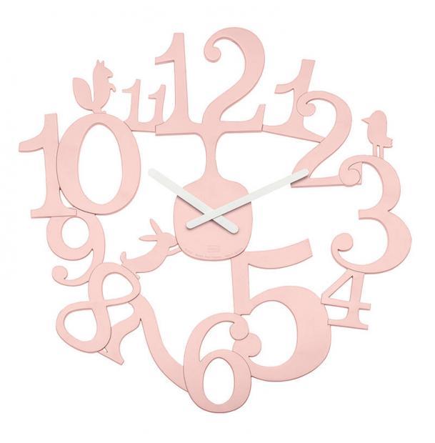 Часы настенные Koziol Pip розовые