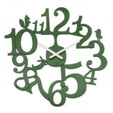 Часы настенные Koziol Pip тёмно-зелёные