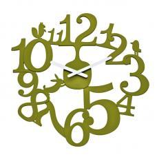 Часы настенные Koziol Pip зелёные
