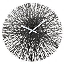 Часы настенные Koziol Silk чёрные