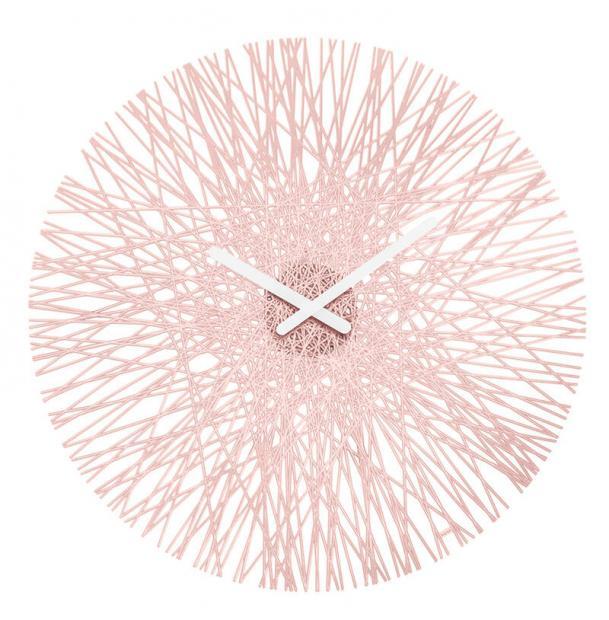 Часы настенные Koziol Silk розовые