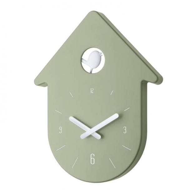 Часы настенные Koziol Toc-Toc эвкалиптовые