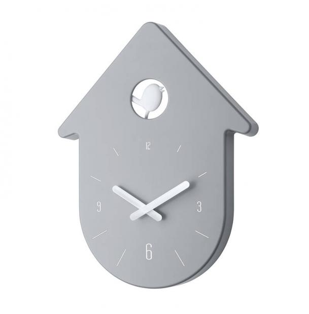 Часы настенные Koziol Toc-Toc серо-белые